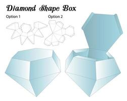 Diamantform Box Verpackung gestanzte Vorlage vektor