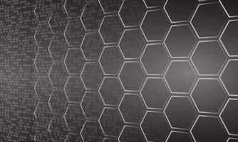 svart cyberkrets framtida teknik koncept bakgrund vektor