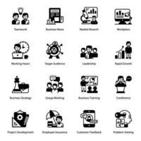 affär och marknadsföring och element vektor