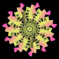 abstrakter Kreisübergang mit Papiereffekt vektor
