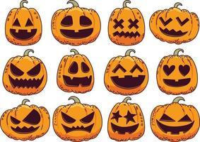 glückliche Halloween-Kürbisillustration vektor