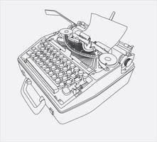 Schreibmaschinenhandzeichnung vektor