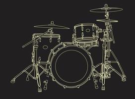 Drum-Set Handdrowind in Vektor-EPS 10 vektor