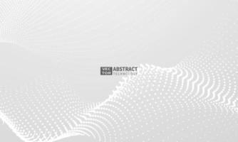 abstraktes graues Hintergrundplakat mit dynamischer. Technologie Netzwerk Vektor-Illustration. vektor
