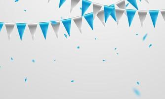 Fahne blaues Konzeptentwurfsschablonenfeiertag glücklicher Tag, Hintergrundfeiervektorillustration. vektor