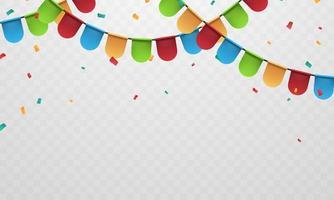 flagga färgglada koncept design mall helgdag, bakgrund firande vektorillustration. vektor