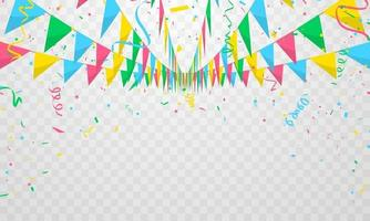 Fahne bunte Konzeptentwurfsschablonefeiertag glücklichen Tag, Hintergrundfeiervektorillustration. vektor
