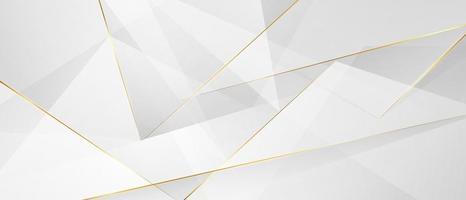 abstraktes Weißgold-Hintergrundplakat mit dynamischer. Technologie Netzwerk Vektor-Illustration. vektor