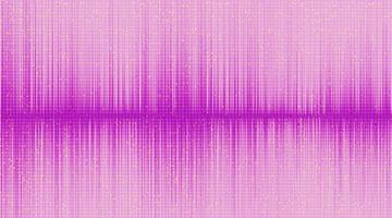 rosa Schallwellenhintergrund, Technologie- und Erdbebenwellendiagrammkonzept, Vektorillustration. vektor