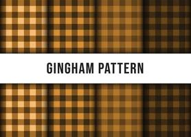 Set Sammlung von karierten Gingham Linie Tischdecke nahtloses Muster. Premium-Vektor vektor