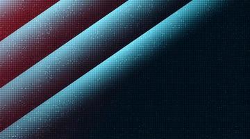 abstrakt röd och blå kretsmikrochip på teknikbakgrund, högteknologisk och säkerhetskonceptdesign, ledigt utrymme för text i put, vektorillustration. vektor