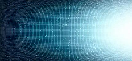 konvex bakgrund för ljuskretsteknik, högteknologisk digital och nätverkskonceptdesign, vektorillustration. vektor