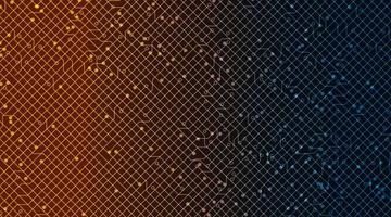 elektronisk kretsmikrochip på teknikbakgrund, högteknologisk digital och säkerhetskonceptdesign, ledigt utrymme för text i put, vektorillustration. vektor