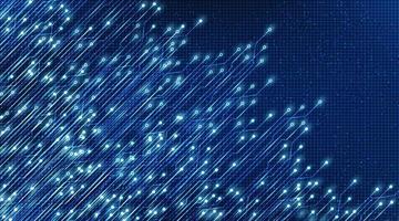 Hintergrund der Mikrochip-Technologie für elektronische Blitzlicht-Digitalschaltung, digitales und zukünftiges High-Tech-Konzeptdesign, freier Platz für Text in Put, Vektorillustration. vektor