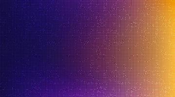 Mikrochip-Technologie für orangefarbene und violette Schaltkreise auf zukünftigem Hintergrund, High-Tech-Digital- und Kommunikationskonzeptdesign, freier Speicherplatz für Text in Put, Vektorillustration. vektor
