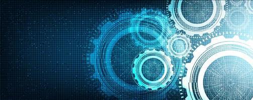 digitala kugghjul och kuk på teknikbakgrund, ledigt utrymme för textinmatning, vektor