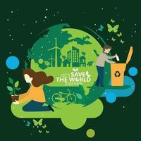 ekologi och miljöbevarande kreativ idé konceptdesign vektor