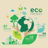 Ökologie und Umweltschutz Kreative Idee Konzeption vektor