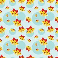 nahtlose Mustervektorillustration der Weihnachtsglocke vektor