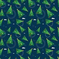 Weihnachtsbaum Muster Vektor-Illustration vektor