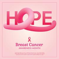 Brustkrebs-Vektor-Design