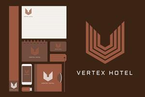 Super Luxus Hotel Corporate Identity Vektoren