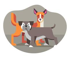 Tierfreunde Illustration