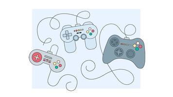 Joystick-Spiel steuert Vektor