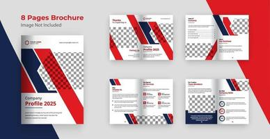 Firmenprofil Broschürenvorlage vektor