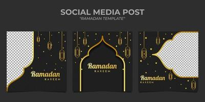 ramadan kareem temaplate sociala medier vektor