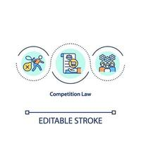 wettbewerbsrechtliche Konzeptikone vektor