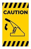 Vorsicht ziehen Feststellbremse Symbol Zeichen isolieren auf weißem Hintergrund vektor