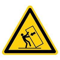 Körper Quetschspitze über Gefahrensymbolzeichen vektor