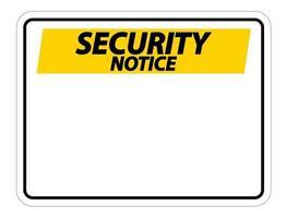 Symbol Sicherheitshinweis Zeichen Etikett auf weißem Hintergrund vektor