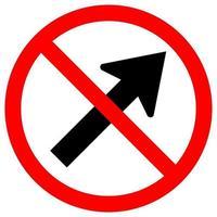 Verbieten Sie, nach rechts durch das Pfeil Verkehrsstraßensymbolzeichen zu gehen vektor
