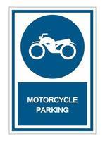 Motorrad Parkplatz Symbol Zeichen vektor