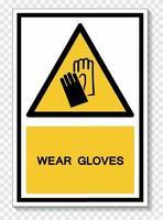 bära handskar symbol tecken vektor