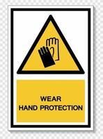 bär handskydd symbol tecken vektor