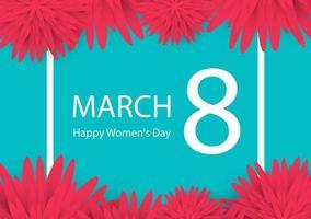 abstrakt blommig gratulationskort. glad kvinnors dag. vektor illustration.
