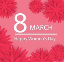 abstrakte Blumengrußkarte. Alles Gute zum Tag der Frauen. Vektorillustration. vektor