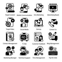 Unternehmensdienstleistungen und Medienwerbung vektor