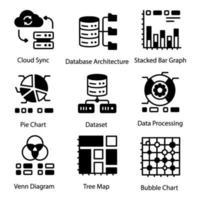 Website-Datenelemente vektor