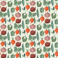 Vektor-Gemüse-Aquarell-Muster