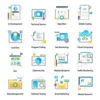 Webcodierung und digitales Marketing vektor