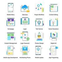 webbinloggning och webbtjänst vektor