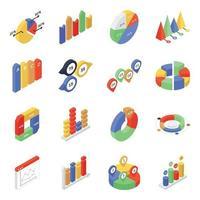 Datenanalyse und Diagramme vektor