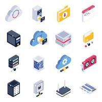 Datenserver-Datenverwaltung vektor