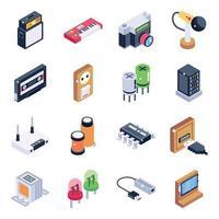 elektroniska prylar och enheter vektor