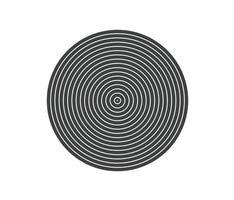 koncentrisk cirkel element. svartvit färgring. abstrakt vektorillustration för ljudvåg, monokrom grafik. vektor