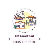 essen lokale Lebensmittelkonzeptikone vektor